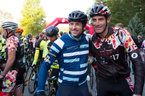 Patrick Dempsey and George Hincapie